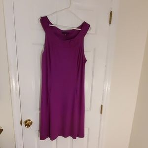 Purple swing dress with pockets (XL)